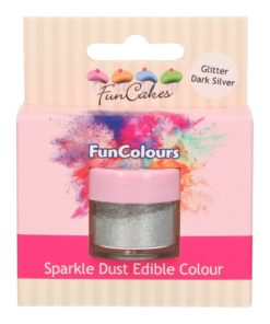 FunCakes Sparkle Dust Edible Colour Glitter Dark Silver
