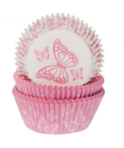 Muffinförmchen House of Marie Butterfly Pink