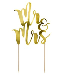 Tortentopper Mr & Mrs PartyDeco - Gold